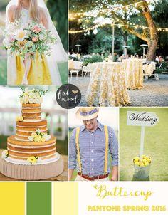Buttercup Wedding Theme { Pantone Spring 2016 } http://www.fabmood.com/buttercup-wedding-theme-pantone #yellow #wedding