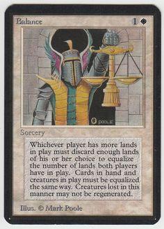 Balance (Limited Edition Alpha) - Gatherer - Magic: The Gathering Preston, Mtg Art, Kid Icarus, Magic The Gathering Cards, Magic Cards, Comic Games, Balance, Wizards Of The Coast, Funny Cards