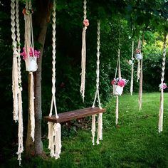 Macrame Rope Swing