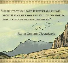 003 Paulo Coelho from The Alchemist quote poster, you will