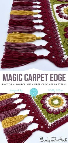 Magic Carpet Edge Free Crochet Pattern  #Crochetpatterns