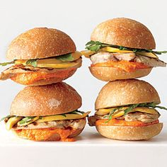 ... Chicken Sandwiches with Pickled Squash and Romesco Mayonnaise Recipe