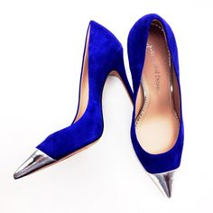 Nothing wrong with a little silver tip for those blue suede shoes! Ash Shoes, Ugly Shoes, Blue Suede Shoes, Me Too Shoes, Shoe Show, Pumps, Heels, Fashion Shoes, Christian Louboutin