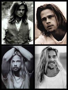 Brad Pitt this man feel into my life when I was 6 and have never seen men the same ever again 🤣🤷🏾♀️🤣 Male Models Poses, Brad Pitt And Angelina Jolie, Film Icon, Dream Guy, Old Movies, Good Looking Men, Haircuts For Men, Hourglass, Beautiful Men