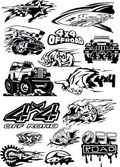 Off-Road vehicle vector art cdr file Logo Sticker, Sticker Design, Car Stickers, Custom Stickers, Lettering Design, Logo Design, Jeep Tattoo, Road Logo, Black And White Art Drawing