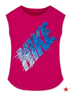 Keep her gym locker filled with fun and functional tanks from Nike. This sleeveless style is great for the first few weeks of school when it's still hot out. Pair with athletic shorts and running sneakers for the perfect gym class look.