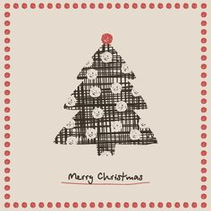#Christmas #Tree #Card, #vector #illustration by #DryIcons.com.