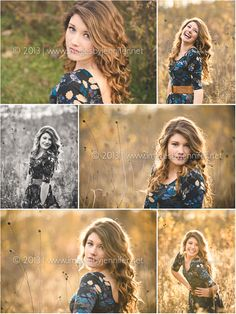 Allendale High School Senior Portraits Outdoors in a Field
