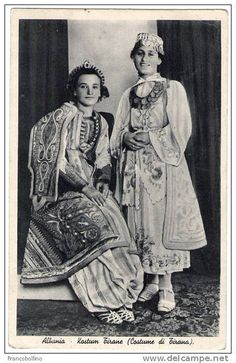 Kostume tiranase. Costumes albanais de l'Albanie centrale. Typical costumes of Tirana region, Albania. by Only Tradition, via Flickr