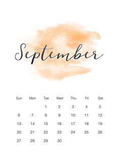Free Printable 2020 Watercolor Wash Calendar - The Cottage Market Art Calendar, Calendar Wallpaper, Calendar 2020, Calendar Design, Iphone Wallpaper, Free Printable Calendar, Free Printables, September Wallpaper, September Calendar