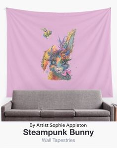 """Sophie Appleton Art on Twitter: """"Steampunk Bunny wall tapestry, search Redbubble for by Sophie Appleton to navigate to oodles more stuff :-) Bunny Painting, Bunny Rabbit, Contemporary Artists, Wall Tapestry, Steampunk, Paintings, Twitter, Search, Paint"""