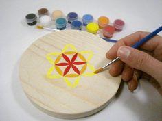 DIY Fleur de Vie à peindre en bois Ø 13cm essence pin  - Indigo Créations -