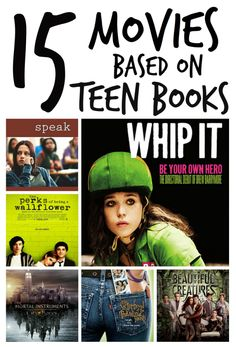 15 YA novels turned into movies. For more book fun, follow us on Pinterest & Facebook. www.facebook.com/booktasticfun