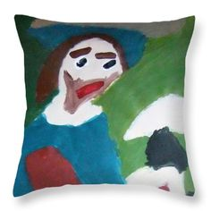 Patrick Francis Designer Throw Pillow featuring the painting Man With A Feathered Hat 2014 by Patrick Francis Pillow Sale, Designer Throw Pillows, The Incredibles, Hats, Artist, Artwork, Painting, Work Of Art, Hat