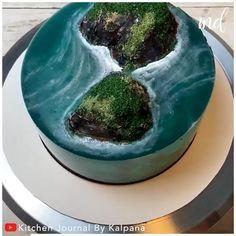 Cake Decorating Frosting, Cake Decorating Designs, Creative Cake Decorating, Cake Decorating Videos, Cake Decorating Techniques, Cake Designs, Island Cake, Ocean Cakes, Jello Cake
