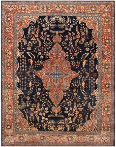 Antique Farahan Sarouk Persian Rug 48471