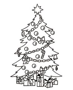 Christmas Tree Coloring Pages For Preschoolers  Coloring Pages