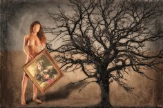 Surrealism, Strapless Dress, Digital Art, Strapless Gown