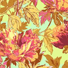 Amy Butler - Soul Blossoms Rayon - Twilight Peony Rayon in Saffron