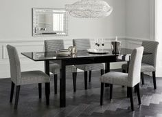 Black Gloss Double Extending Dining Table From Next