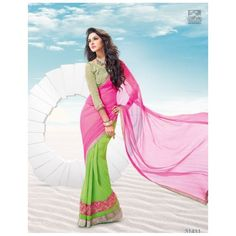 R Rajkumar Gorgeous Indian Saree Sari Georgette Chiffon Bollywood Party With Unstitched Blouse