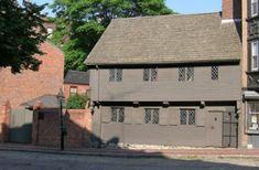 """Paul Revere's house in Boston, Massachusetts ~ The Reveres were a French Huguenot family, """"Revoir"""" was the original spelling"""