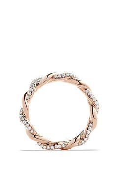 Wisteria Twist Ring with Diamonds in Rose Gold