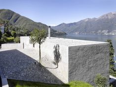 New Construction House in Ranzo is a minimalist house located in Ranzo, Switzerland, designed by Wespi de Meuron.