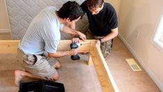 Diy Como hacer una cama de dos plazas de madera pino fácil de hacer Bed Dimensions, Wood, Log Bed, Bed Making, Cots, Pine, Bike, Bed Ideas