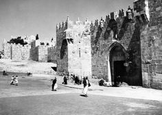 Palestine has been the scene of much death and destruction during the past two years, consequent on the conflict between Arab and Jew, and Jerusalem the holy city has not escaped from scenes of violence. The famous Damascus gate of Jerusalem, scene of many incidents that have affected the history of Jerusalem and Palestine on Jan 18, 1939. This leads from the new city to the old quarter and is regarded by both factions as of strategic importance.