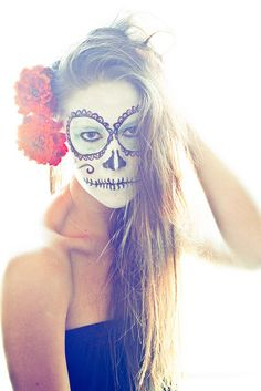 Day of the dead makeup by Kel-Z