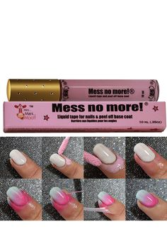 This liquid tape by Mini Mani Moo™ helps keep your fingers clean when polishing your nails or doing nail art. Apply to areas that you want free of polish, let it air dry, color your nails, and peel off tape. Apply as a base coat to help get rid of your nail polish by peeling it off when you are ready to change your mani.
