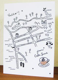 map by elizabeth hubbell Map Sketch, Sketch Design, Maps Design, Design Design, Coffee Shop Website, Village Map, Mental Map, Map Projects, Leaflet Design