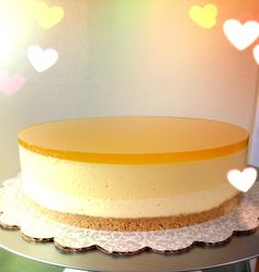 Mango Trio Cake ~ Mango Jelly, Mango Mousse, Mango Cheese Cake n Graham Cracker Crust