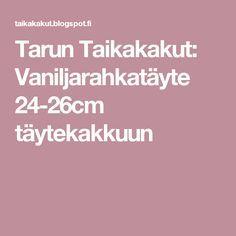 Tarun Taikakakut: Vaniljarahkatäyte 24-26cm täytekakkuun Kermit