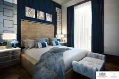 LINLEY Interior Design has produced design options for the interiors of a series of penthouses and apartments at Knightsbridge Private Park. #Bedroom #Interior #Design #Home #Decorating #Decor