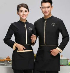 Chinese restaurant uniforms chinese hotel waiter uniforms restaurant waitress un Cafe Uniform, Waiter Uniform, Salon Uniform, Spa Uniform, Hotel Uniform, Staff Uniforms, Work Uniforms, Kellner Uniform, Waitress Outfit