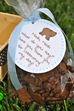 brown bear, brown bear, what do you see?????? - treat bags for Brown Bear party