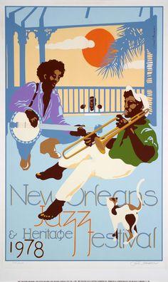 New Orleans Jazz & Heritage Fesitval Posters - 1978