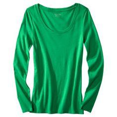 Women's Ultimate Long Sleeve Scoop Tee green target