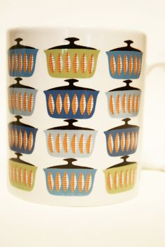 Retro Casserole Mug  Swedish Style Kitchen Gift by jillybirddesign, £6.50