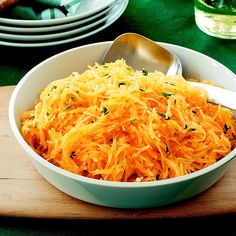 We love spaghetti squash tossed with a sage and thyme sauce!