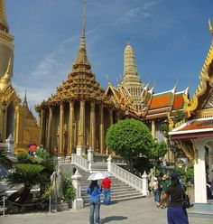 Wat Phra Kaew, commonly known as the Temple of the Emerald Buddha, in Bangkok, Thailand. A wonderful place to visit!!
