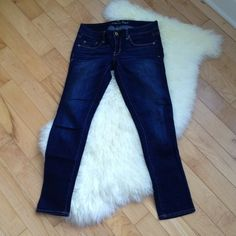 AE Skinny Jeans. Sz 2 short. Thicker fabric- not super stretchy like jeggings. American Eagle Outfitters Jeans Skinny