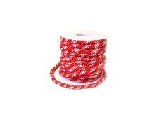 Elastisch koord gedraaid ± 6mm rood( 1 meter)www.beadscreations.nl