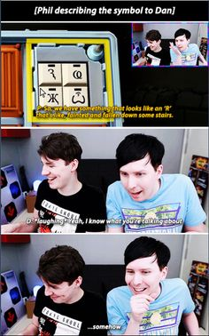 #more proof that dan and phil have psychic powers | source: http://altphan.tumblr.com/ Phan Is Real, Dan And Phill, Dan Howell Imagines, Phan Tumblr, Cat Whiskers, Friend Goals, Conspiracy Theories, Markiplier, Daniel James Howell