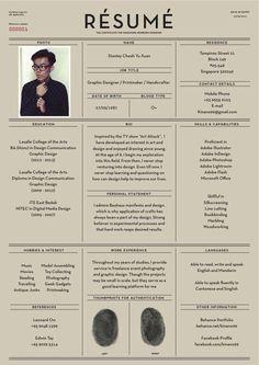 Fantastic Examples of Creative Resume Designs Cv - curriculum vitae - graphic design Design Web, Layout Design, Design Trends, Print Design, Urban Design, Cv Inspiration, Graphic Design Inspiration, Beau Cv, Conception Cv