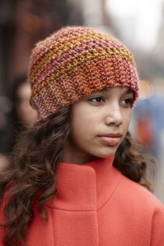 My go-to hat pattern. Works up quickly with bulky weight yarn. From Lion Brand.