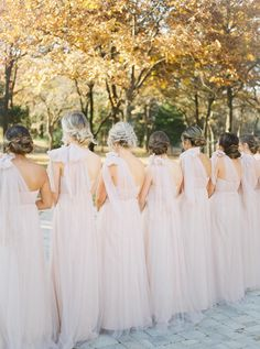Soft pink bridesmaid dresses