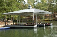 double slip dock covered lake lanier